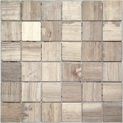 Изображение I-Tile Мозаика из натурального камня состаренная 4M32-48T 4,8х4,8