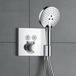 Фото сантехники Croma Select Термостат на 2 потребителя, включая шланговое подсоединение и держатель для душа, хром