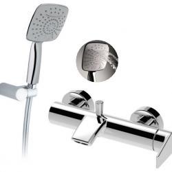 Фото сантехники Winner Смеситель для ванны,с лейкой, держателем и шлангом, хром
