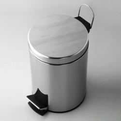 Фото сантехники Wasser Kraft Ведро для мусора, 5 л, с педалью, цвет хром