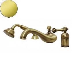 Фото сантехники Bomond Смеситель на борт ванны на 3 отверстия, цвет золото/  ML.BMD-9755DO