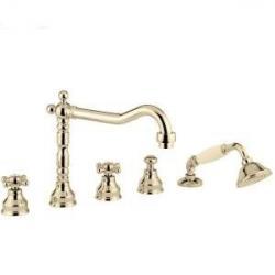 Фото сантехники Revival Смеситель на борт ванны на 5 отверстий, цвет бронза (BN.REV-480.BR)