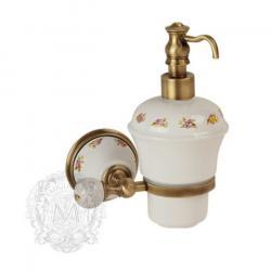 Фото сантехники Provance Дозатор жидкого мыла настенный, керамика с декором/бронза