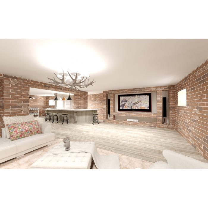Гостиная, комната Italgraniti/Scrapwood - 2