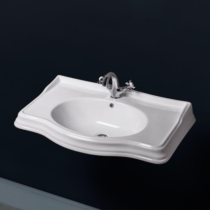 Фото сантехники Borgo Раковина 83х52 см, для мебели Vivo 80, белый - 2
