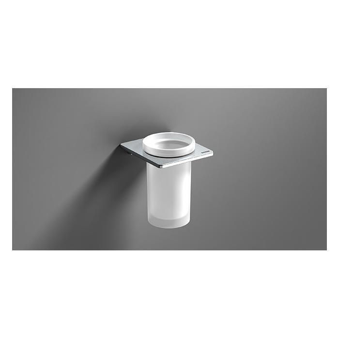 Фото сантехники S-Cube Стакан для зуб. щеток, стекло/хром