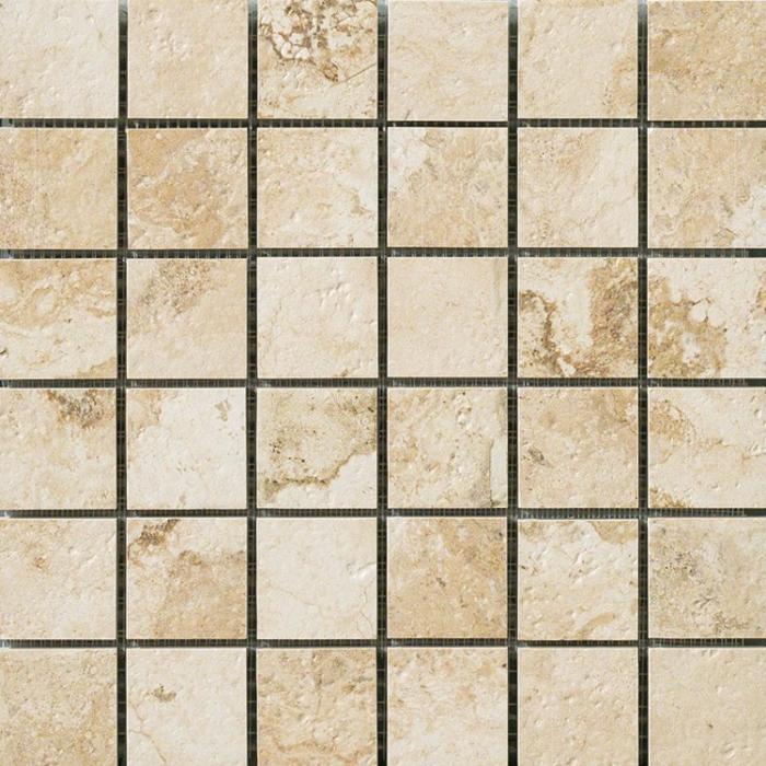 Текстура плитки НЛ-Стоун Айвори Мозаика Патт. 30x30
