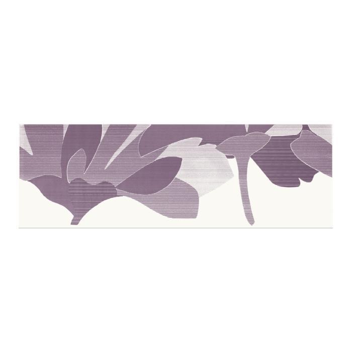 Текстура плитки Indy Viola Inserto Kwiat B 25x75