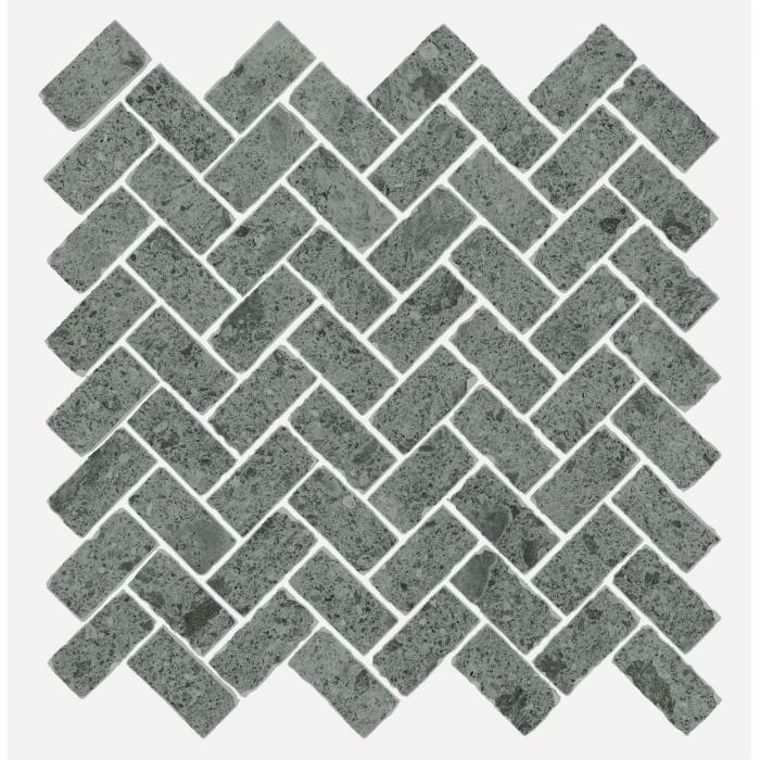 Текстура плитки Дженезис Сатурн Грей Мозаика Кросс Нат. 29,7x31,5 (0,078м2/шт)