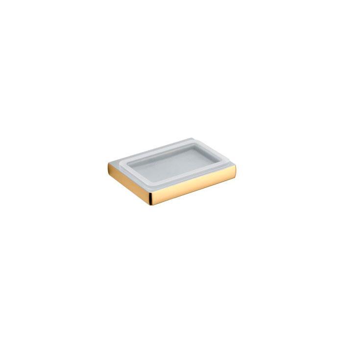 Фото сантехники Lulu мыльница подвесная  l.13,8 p.10,5 h.2,4, цвет золото