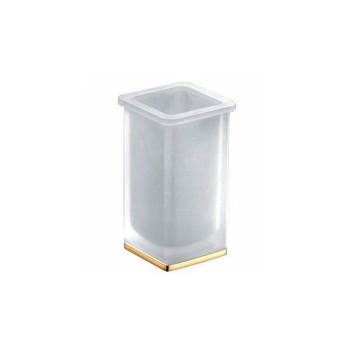 Фото сантехники Lulu стакан настольный l.7,3 p.7,3 h.13,1 золото