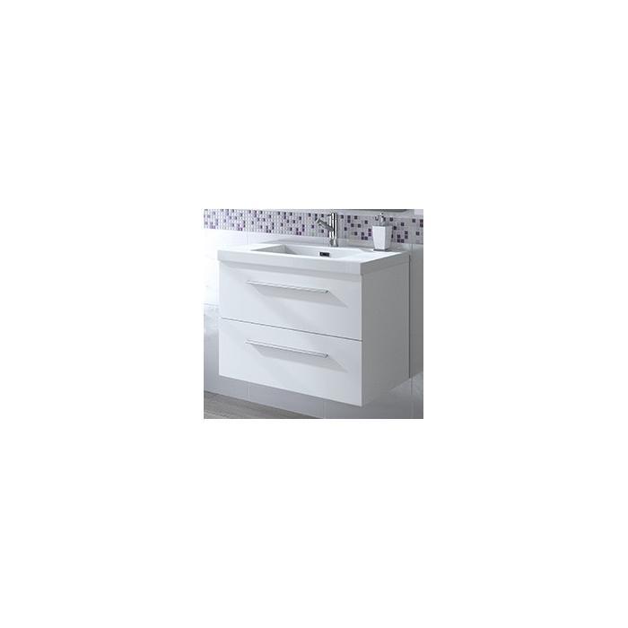 Фото сантехники Fussion Chrome Тумба 80 см, цвет белый глянец, без раковины