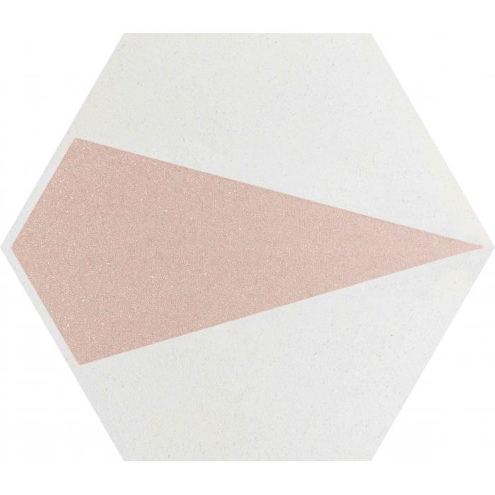 Текстура плитки Esagon Concrete Silver Inserto D 17.1x19.8