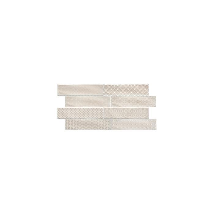 Текстура плитки Decor Opal Ivory 7.5x30