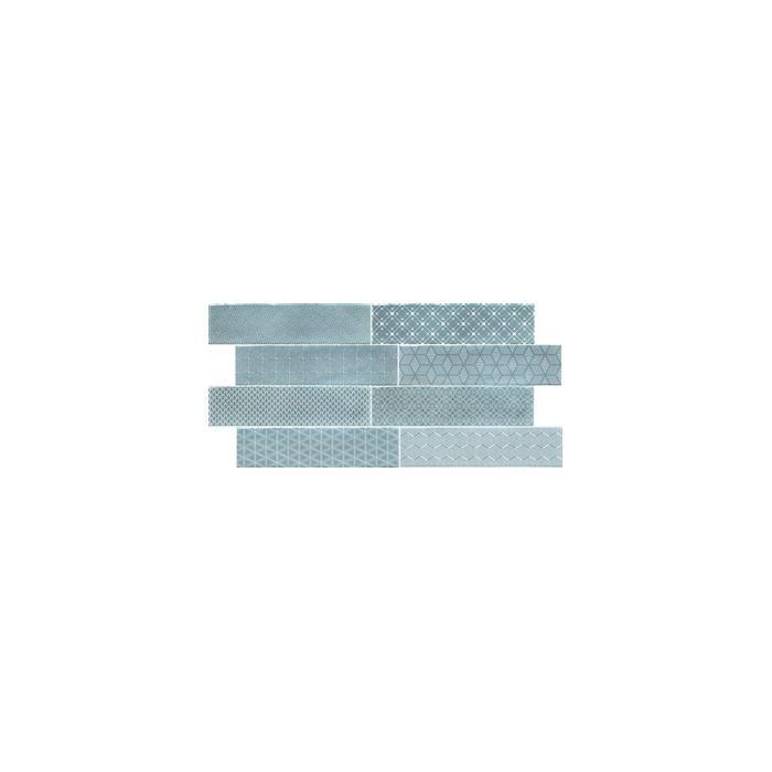 Текстура плитки Decor Opal Sky 7.5x30