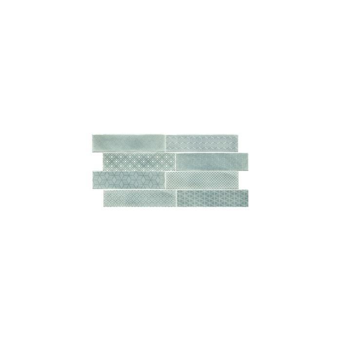 Текстура плитки Decor Opal Turquoise 7.5x30