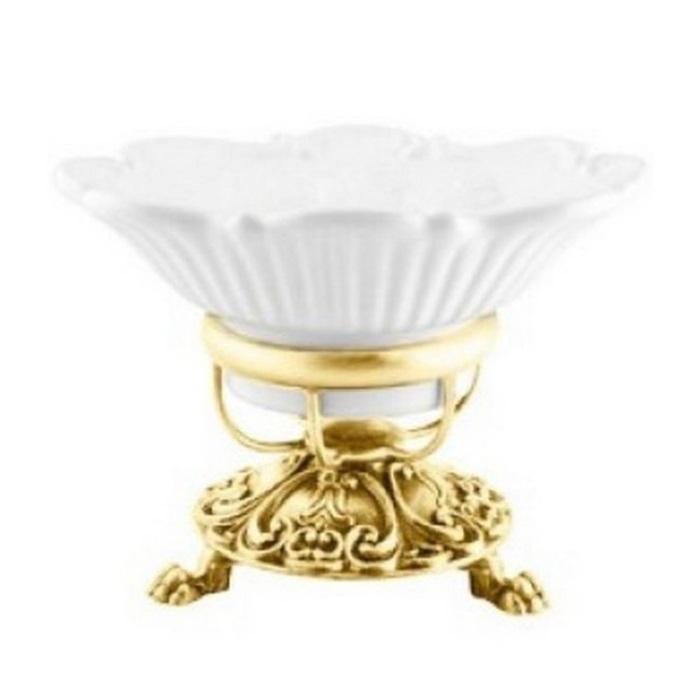 Фото сантехники Elisabetta Мыльница настольная, золото/керамика