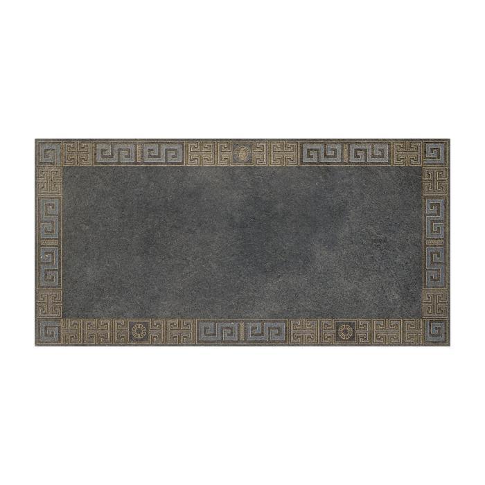Текстура плитки #Greek Cassetone Antracite/Oro Rett 40x80