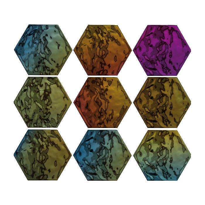 Текстура плитки D.Vezelay Iris 17.5x20