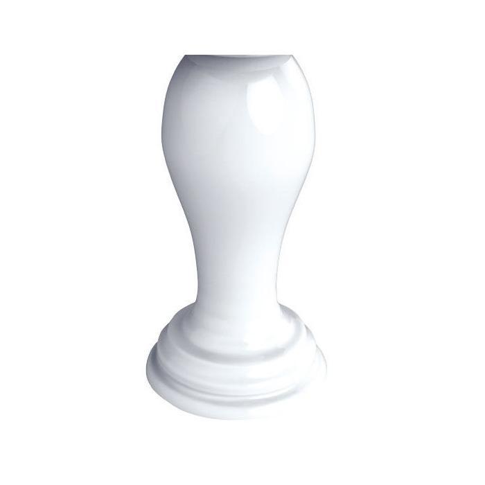 Фото сантехники MILADY Пьедестал для раковины, белая керамика, без декора