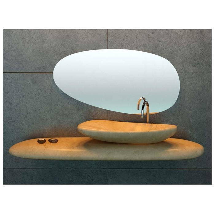Фото сантехники RIVER STONE Зеркало 100 х 51,5 х 1 см - 2