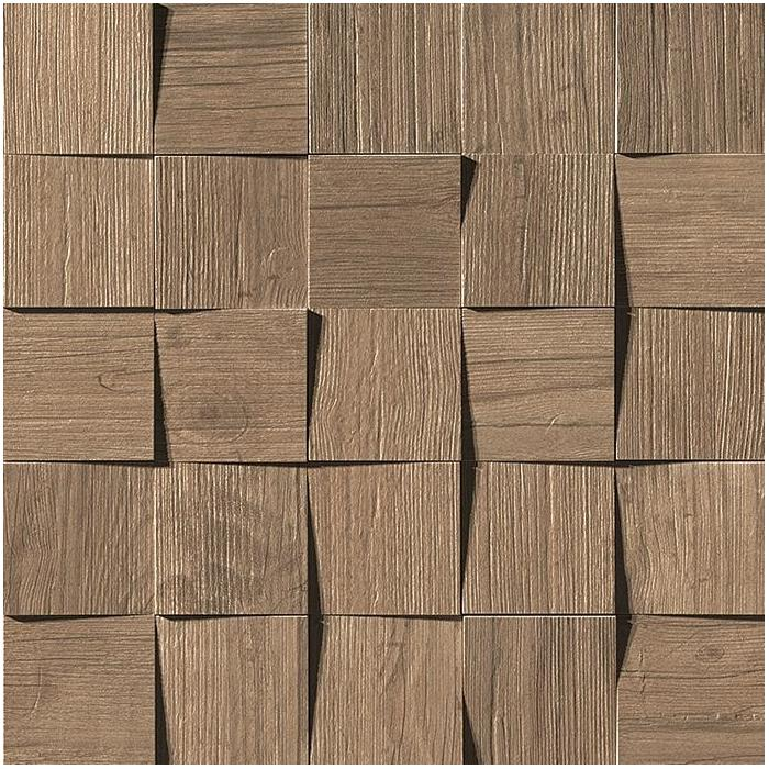 Текстура плитки Axi Brown Chestnut  Mosaic 3D (7х7) 35x35