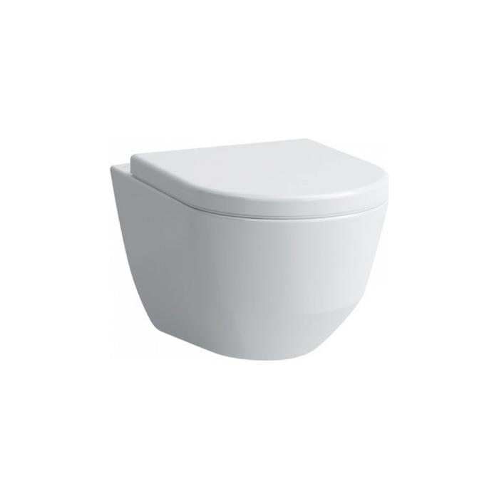 Фото сантехники Pro Унитаз подвесной 53х36см со скрытым ободком, глубокое смывание, цвет белый - 2