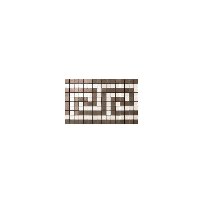 Текстура плитки Marvel Bronze/Champagne Greca Mos. 18.5x30