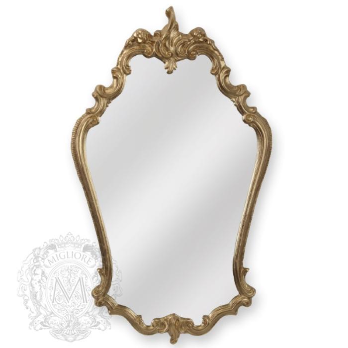 Фото сантехники Зеркало фигурное h95xL57xP4см,цвет золото