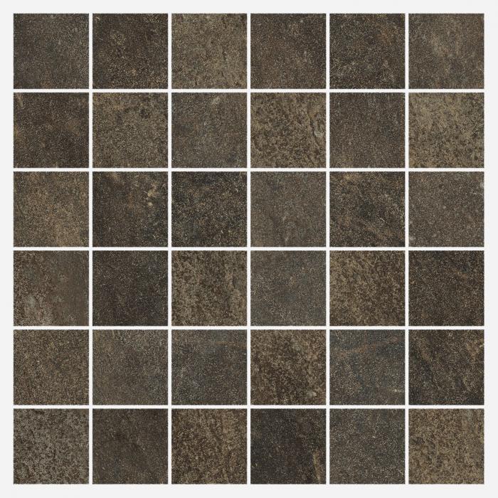 Текстура плитки Дженезис Меркури Браун Мозаика Нат. 30x30