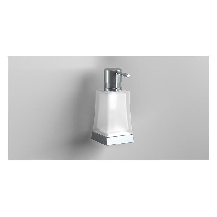 Фото сантехники S7 Дозатор для жидкого мыла, стекло/хром