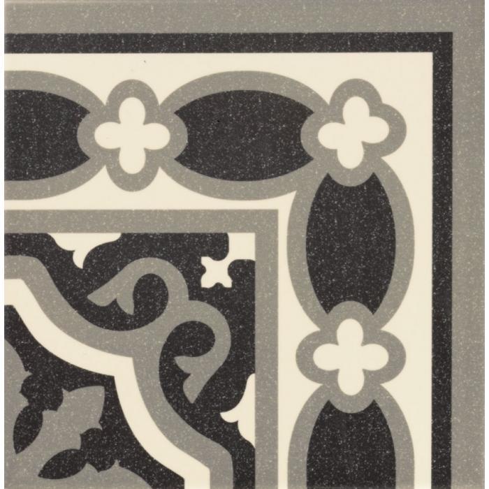 Текстура плитки Esquina Florentine Black 20x20