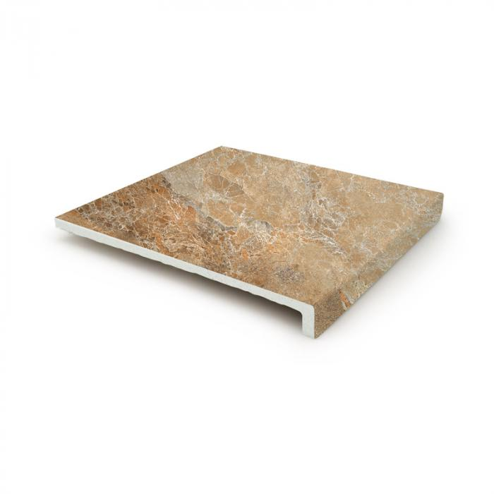 Текстура плитки Sea Rock Peldano Recto Toffee 31.6x33