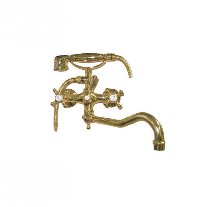 Фото сантехники Lady Смеситель для ванны, длинный излив, цвет бронза