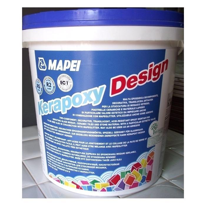 Строительная химия Kerapoxy Design №111 3 kg Серебристо-серый декоративный эпоксидный шовный заполнитель - 2