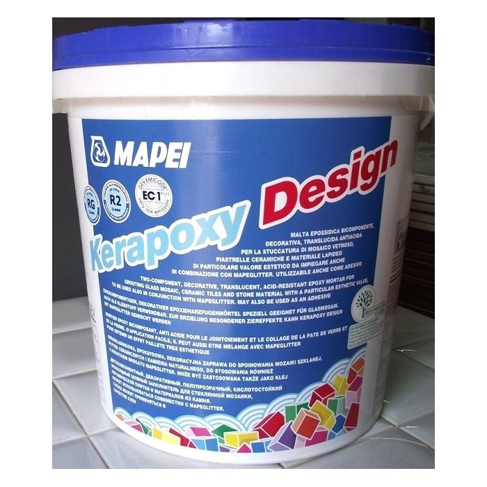 Строительная химия Kerapoxy Design №730 3 kg Бирюзовый декоративный эпоксидный шовный заполнитель - 2