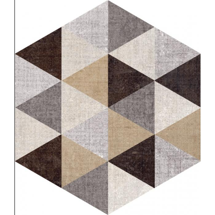 Текстура плитки Textile Triangle Mix Esa 21.6x25