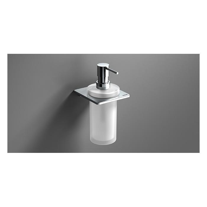 Фото сантехники S-Cube Дозатор для жидкого мыла подвесной, стекло/хром