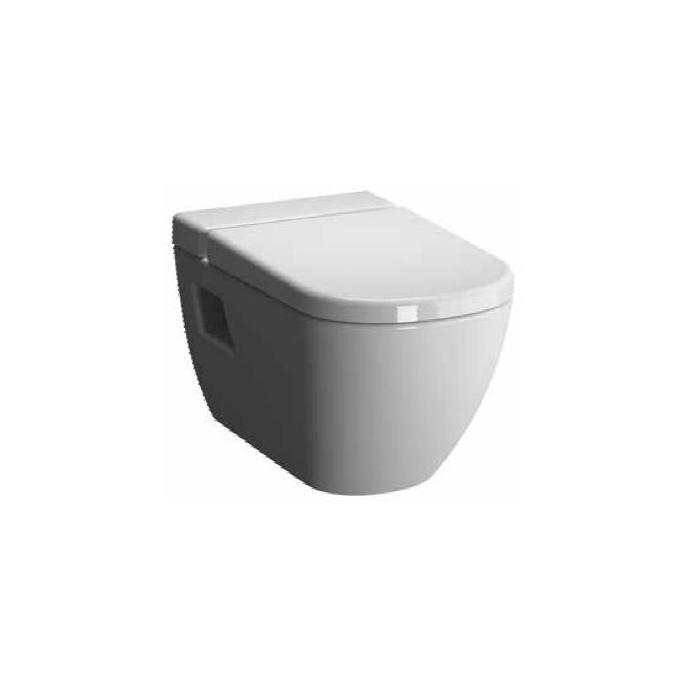 Фото сантехники D-Light Подвесной безободковый унитаз 57,5х34,5см, с бачком для чистящей жидкости Vitra Fresh