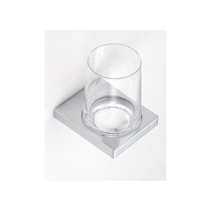 Фото сантехники Держатель стакана с хрустальн. стаканом, хром