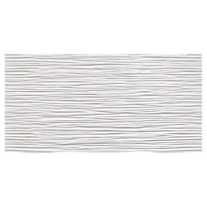 Текстура плитки 3D Wave White Glossy 40x80