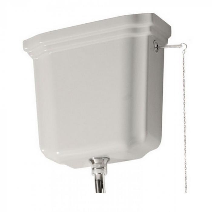 Фото сантехники Waldorf Бачок для унитаза, для монтажа с высокой трубой, (без трубы и механизма слива), цвет белый