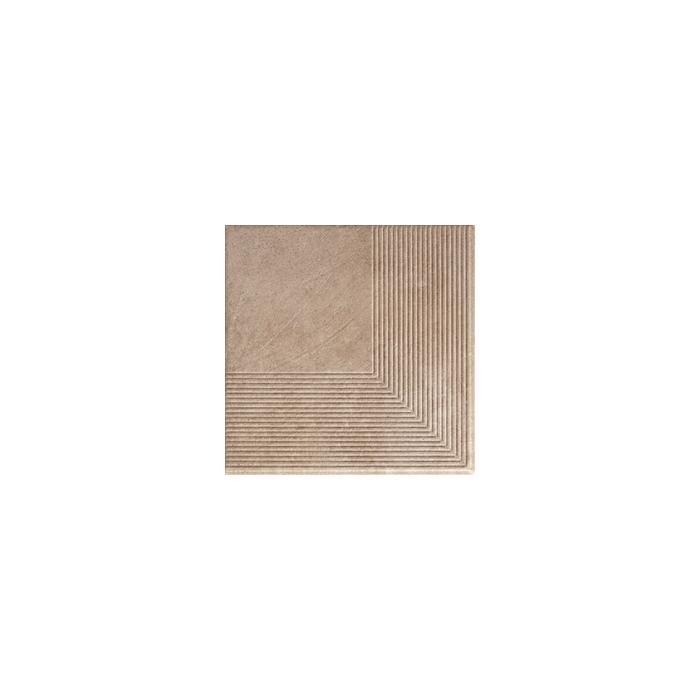 Текстура плитки Viano Beige Stopnica Narozna 30x30