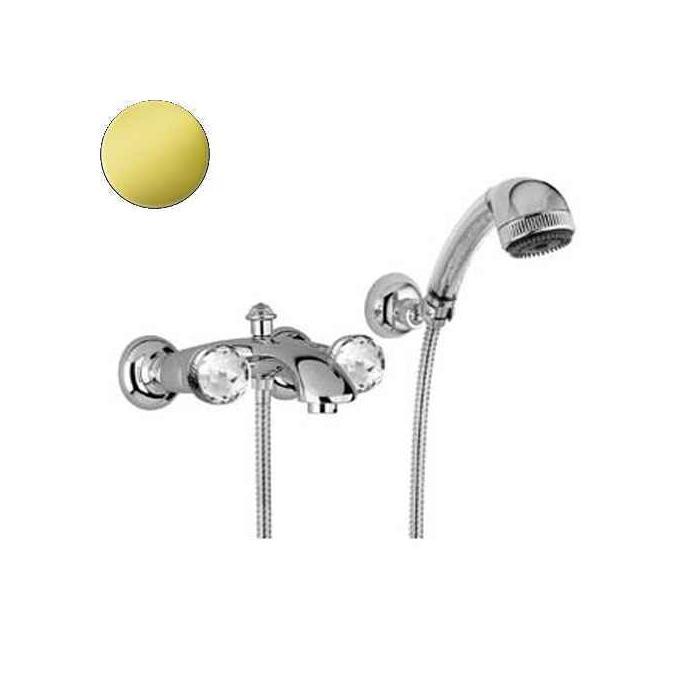 Фото сантехники Axo Swarovski Смеситель для ванны внешний, цвет золото
