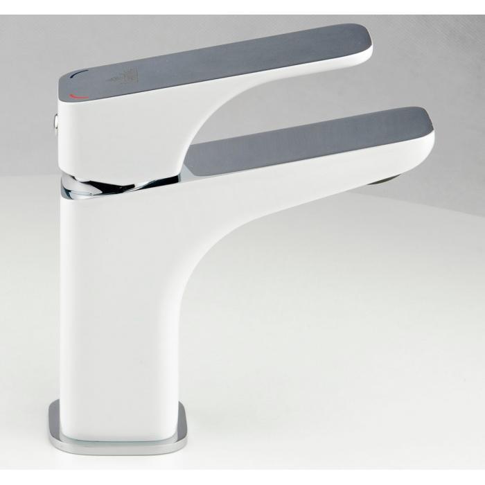 Фото сантехники HIACYNT Смеситель для умывальника цвет белый-хром