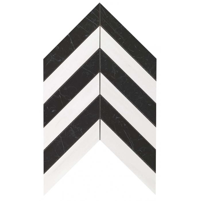 Текстура плитки Marvel Stone Chevron Warm Wall (17,5x3,4) 25x30,5