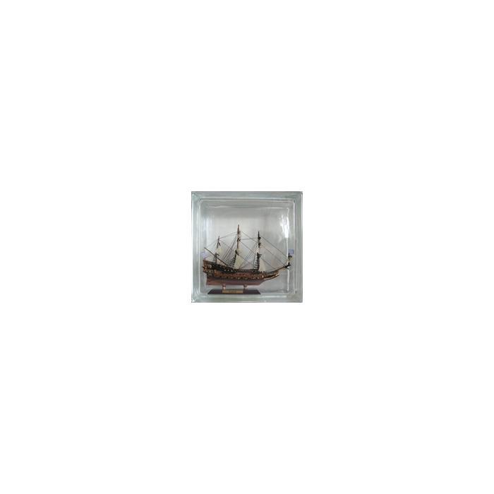 Картинка товара Стеклоблок Эксклюзивный Морская тематика МТ 002Б Безцветный 19x19