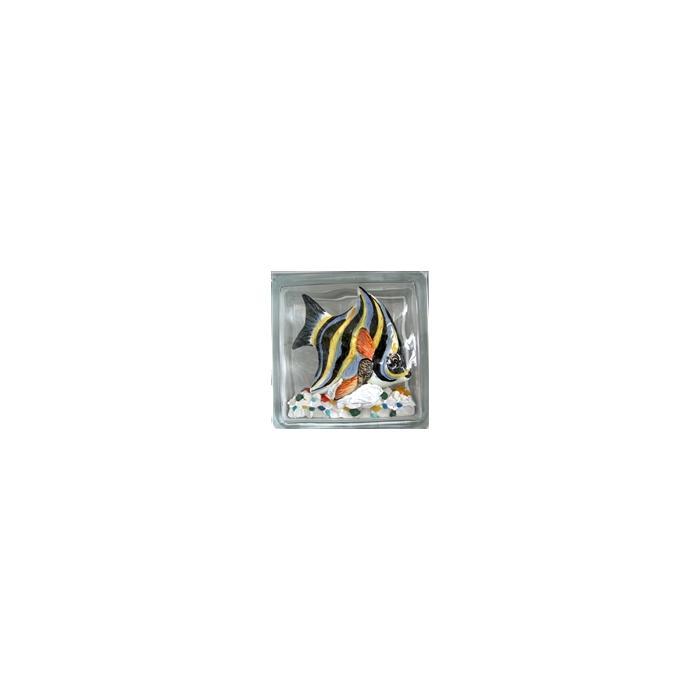 Картинка товара Стеклоблок Эксклюзивный Морская тематика МТ 008А Бесцветный 19х19