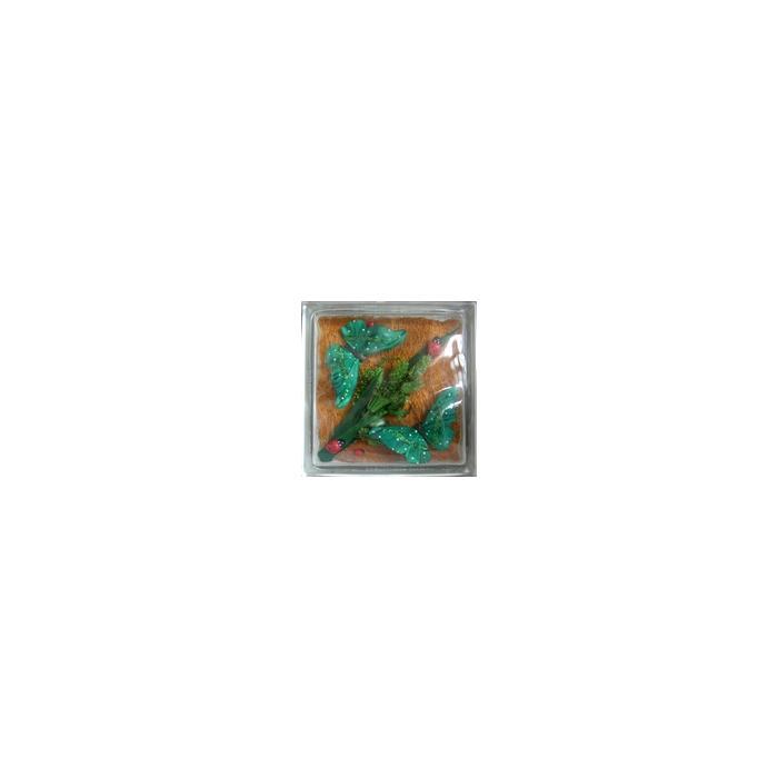 Картинка товара Стеклоблок Эксклюзивный Различная Тематика РТ 017В Бесцветный 19х19