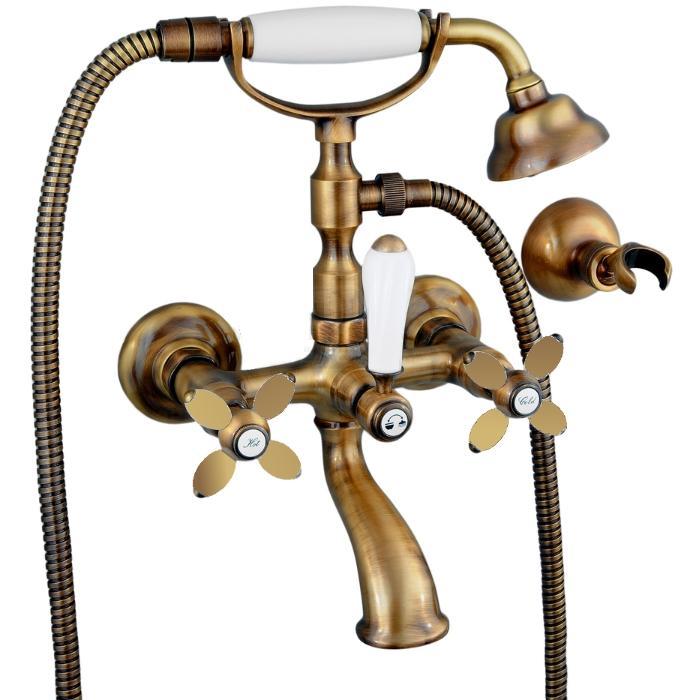 Фото сантехники Princeton Plus Смеситель для ванны внешний, цвет бронза